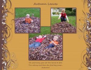November Leaf Page