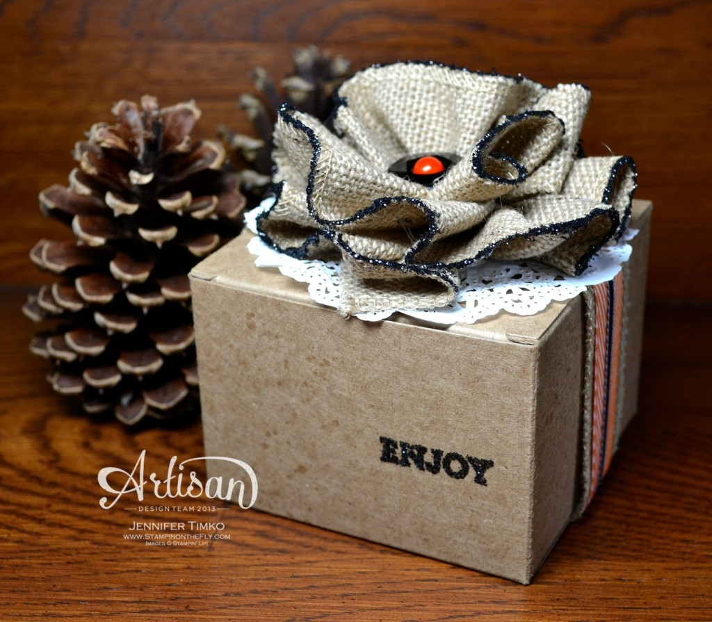Sep FB - Jennifer Burlap Flower Box