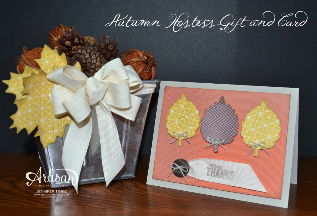 Oct FB - Jennifer - Autumn Hostess Gift and Card