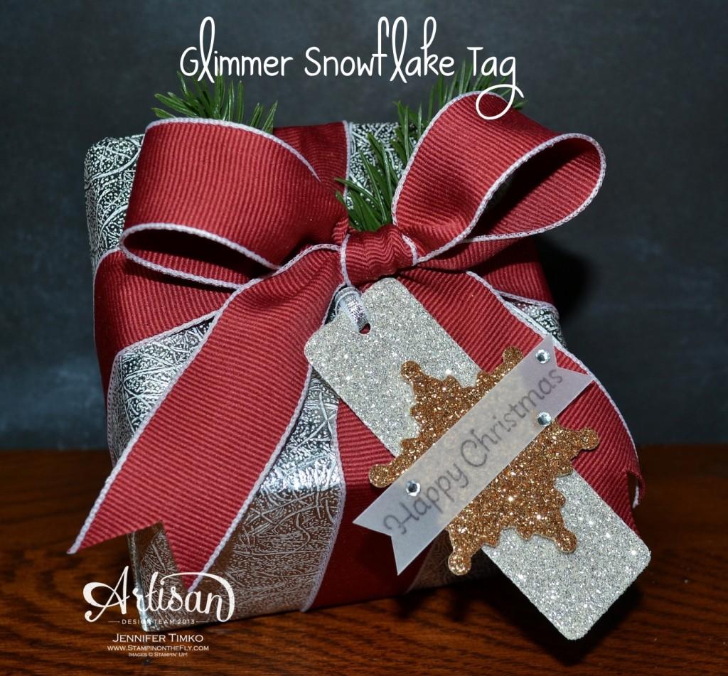 AWW Nov - Glimmer Snowflake Tag