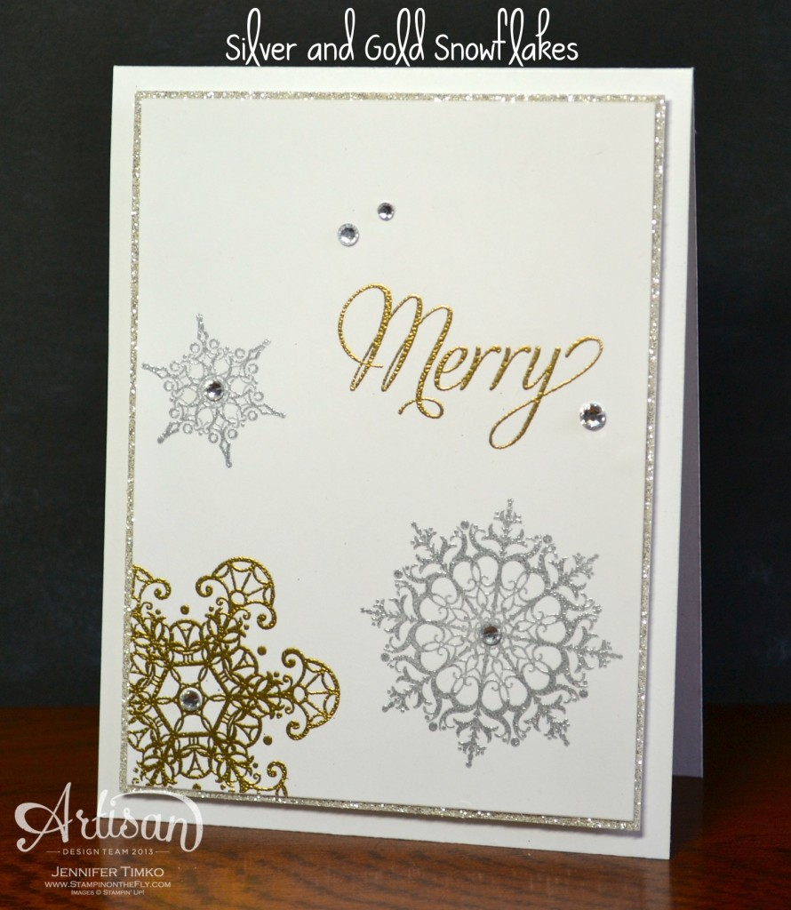 AWW Dec - Gold and Silver Snowflakes