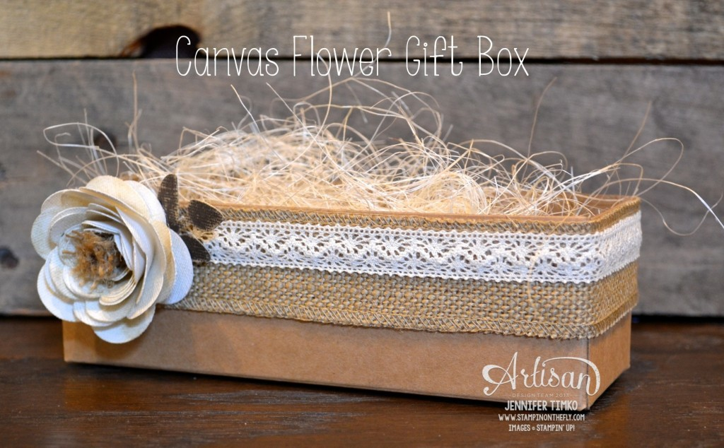 AWW Mar - Canvas Flower Box