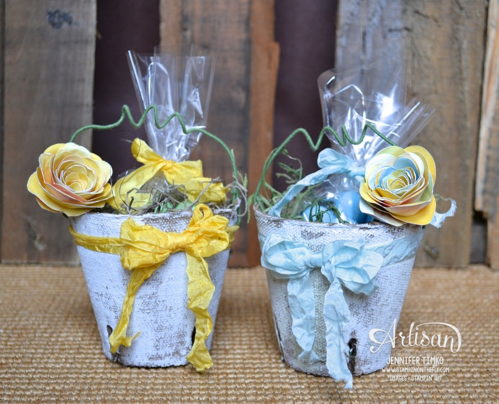 Mar FB - Blue and Yellow Peat Pots