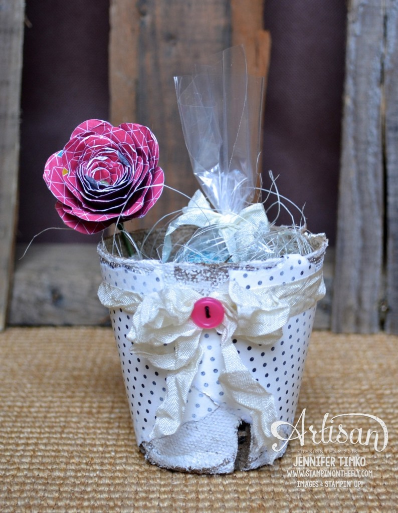 Mar FB - Pink Rose Peat Pot