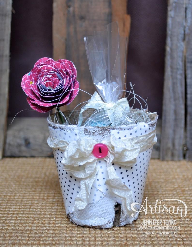 Mar FB - Pink Rose Peat Pot