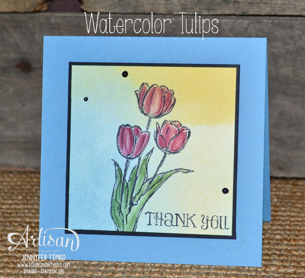 AWW Apr - Watercolor Tulips