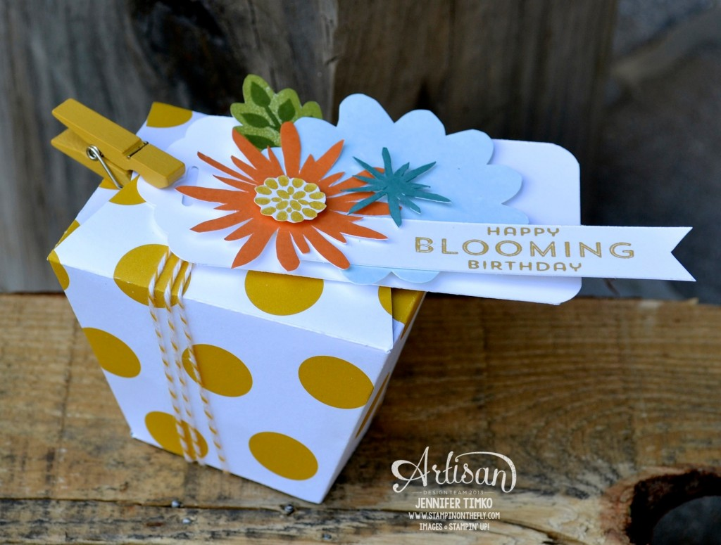 AWW Jul - Blooming Takeout Box