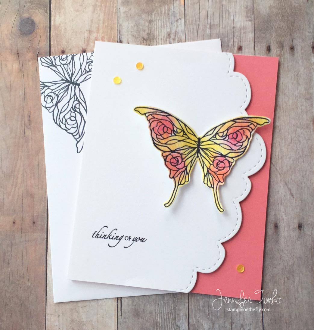 Jen Timko - B4B - Flamingo butterfly