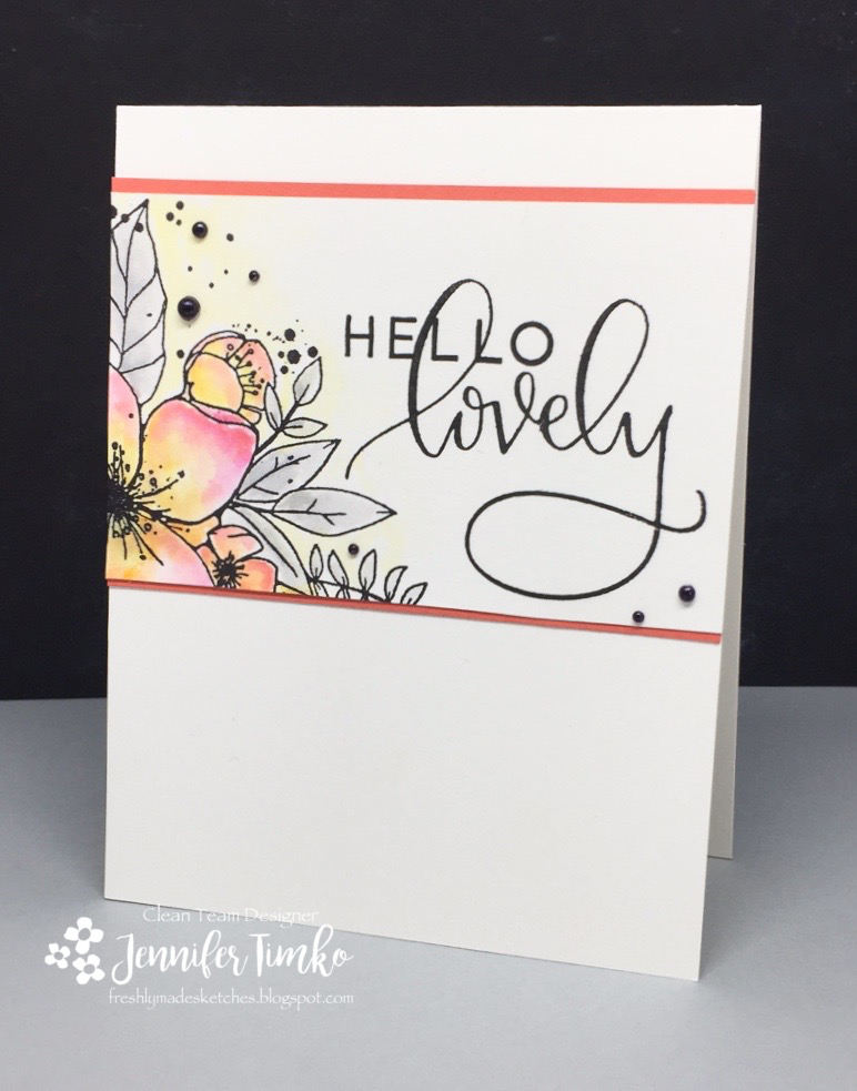 Jen Timko - Hello Lovely Stamp Set by Concord & 9th - FMS271, CC#65