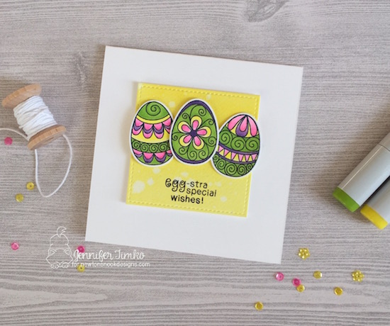 Egg-stra Special Wishes by Jen Timko | Beautiful Spring Stamp Set and Dies by Newton's Nook Designs, Copic Coloring #newtonsnook