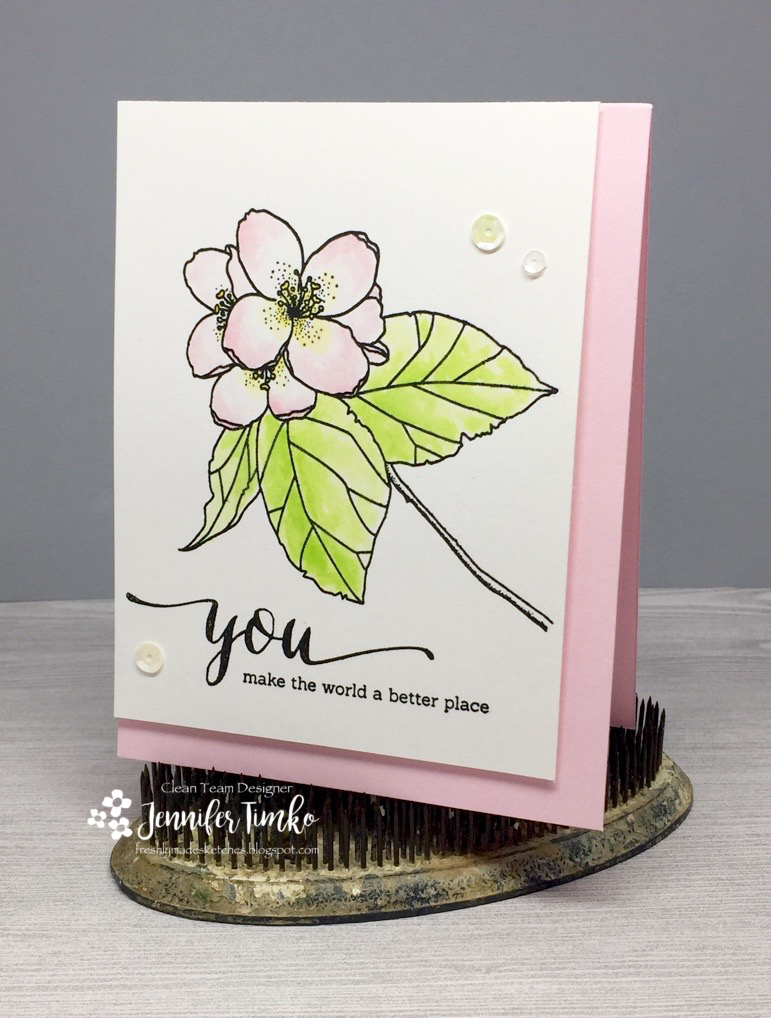 FMS277 by Jen Timko | Butterfly Kisses by Mama Elephant, Tim Holtz Distress Ink