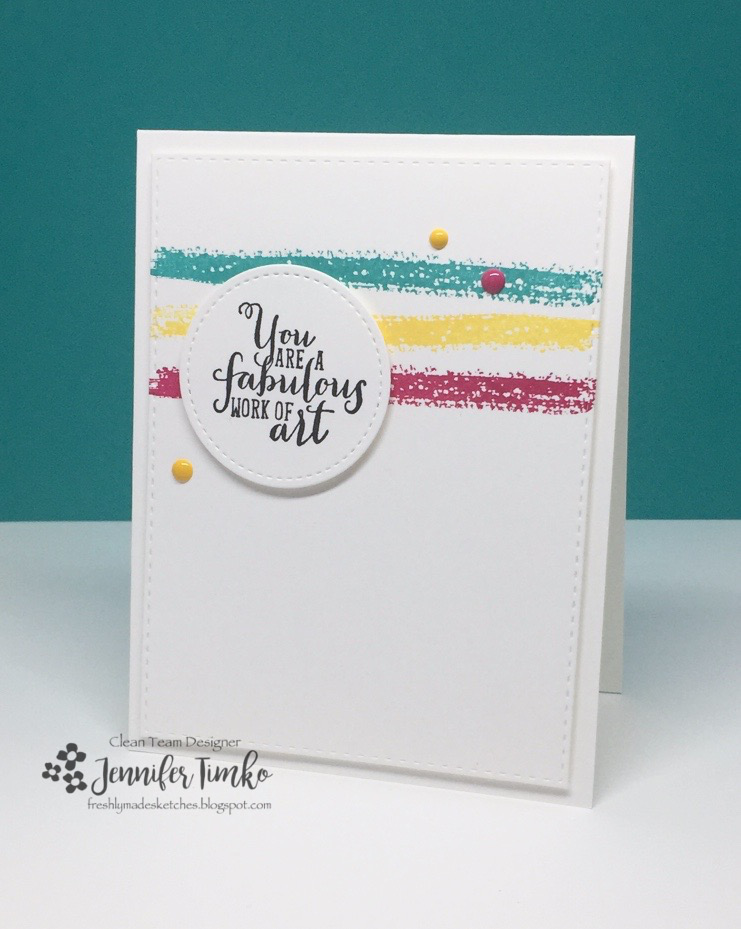 FMS281 by Jen Timko | Work of Art Stamp Set by Stampin' Up, Stitched Shapes