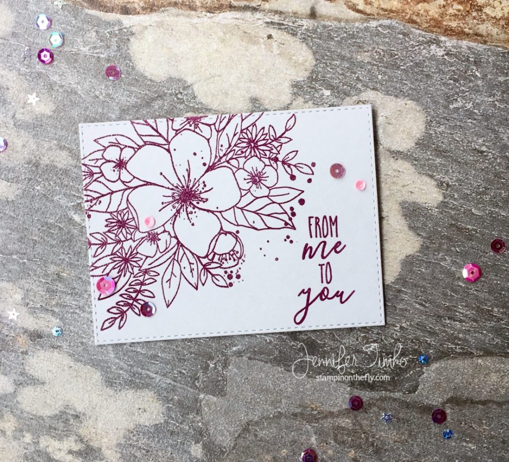 From Me to You by Jen Timko | Hello Lovely Stamp Set by Concord & 9th, O Christmas Tree Stamp by Concord & 9th, Petal Point Pigment Ink by Clear Snap