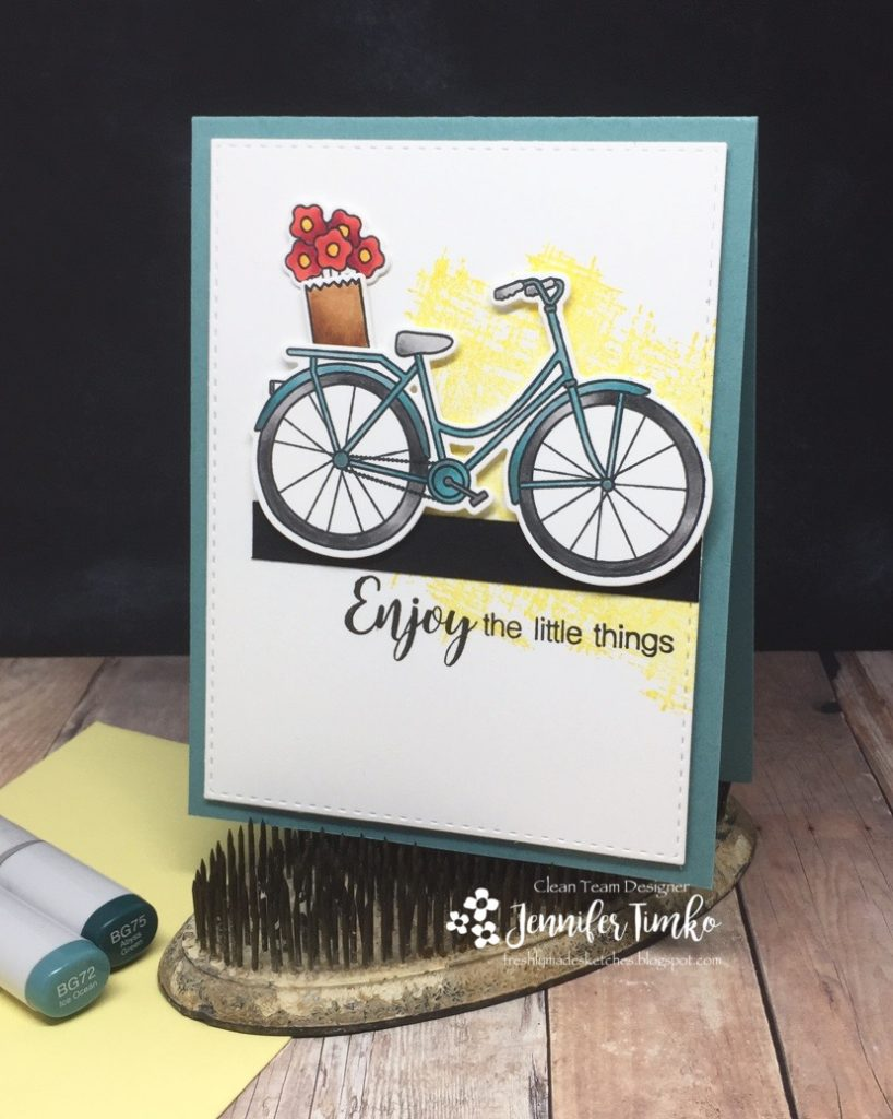 FMS285 by Jen Timko | Beautiful Ride by Simon Says Stamp, You've Got This by Stampin' Up, Copic Coloring, Bicycle