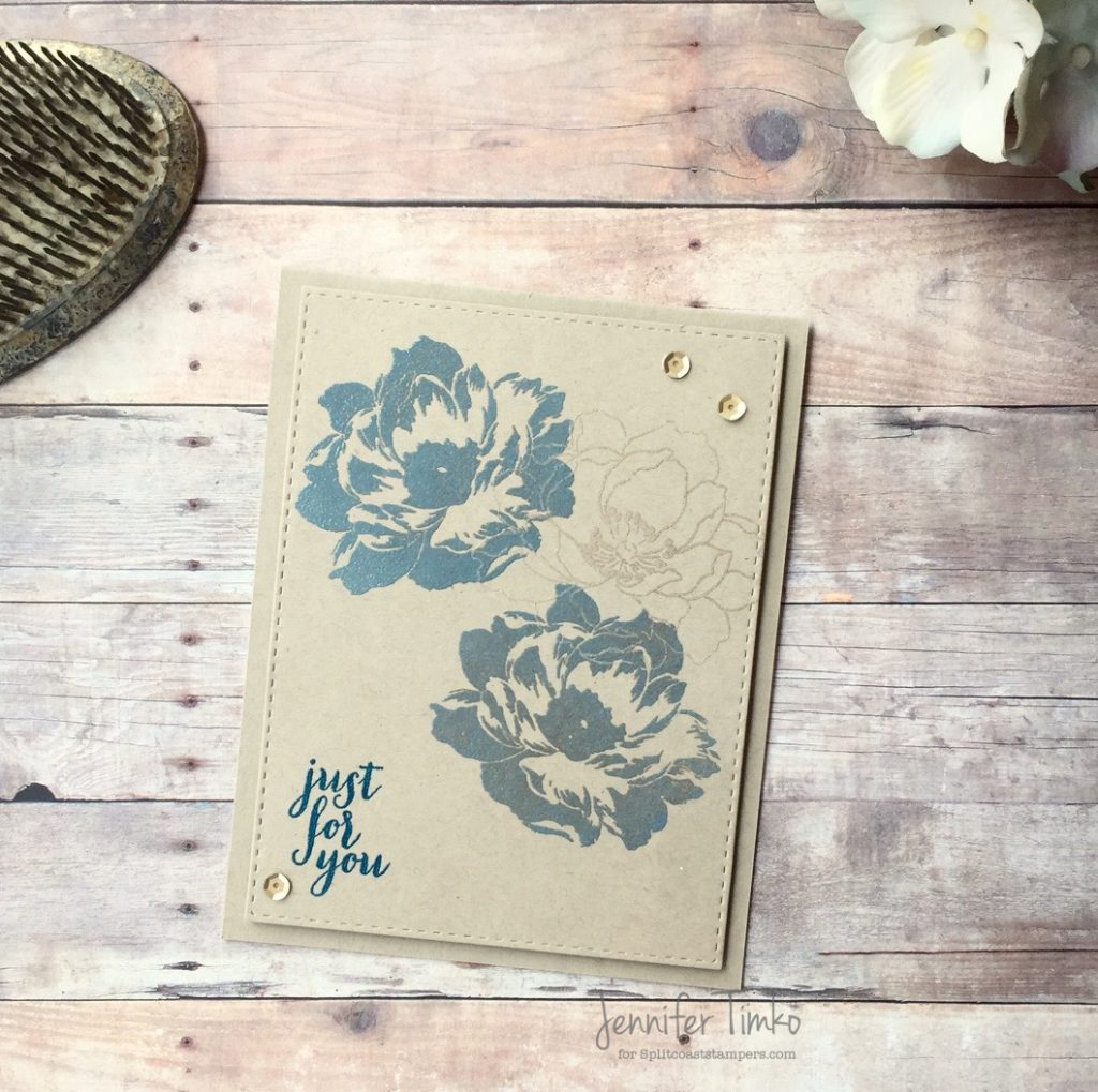 Just for You by Jen Timko | Beautiful Day Stamp by Altenew, Clearsnap Petal Point Ink