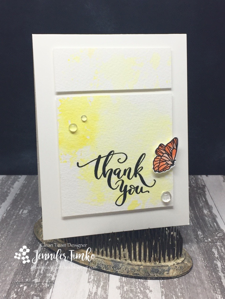 FMS291 by Jen Timko | Butterfly Kisses by Mama Elephant, Thank You by Studio Katia