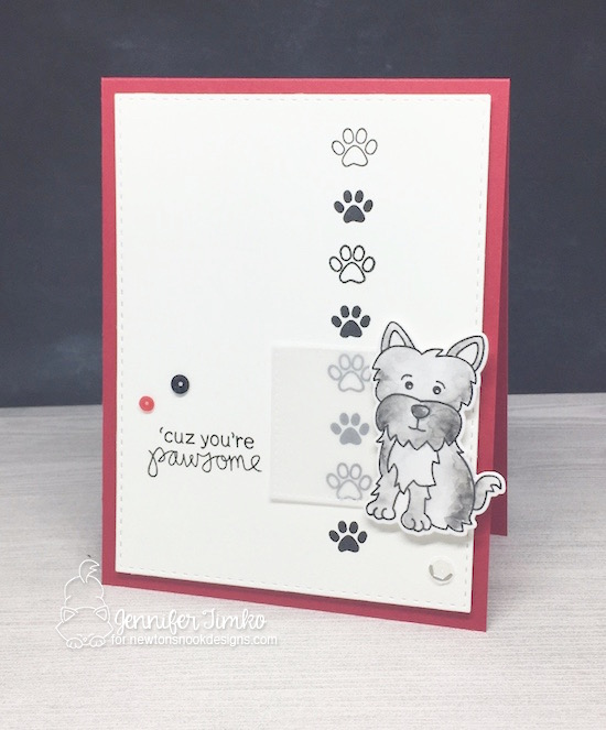 Pawsome by Jen Timko | Terrific Terriers Stamp and Dies by Newton's Nook Designs