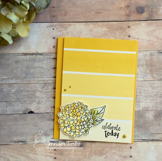 Lovely Yellow Blooms by Jen Timko | Lovely Blooms Stamp and Dies by Newton's Nook Designs, Chameleon Pens, Color Theory DSP by Stampin' Up