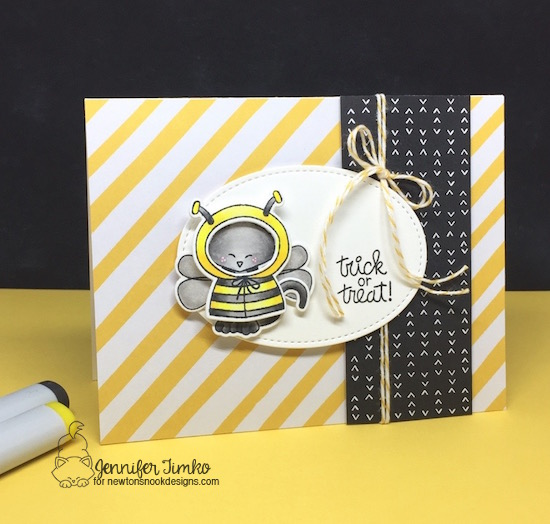 Trick or Treat by Jen Timko | Newton's Costume Party Stamp and Dies by Newton's Nook Designs, Copic Coloring