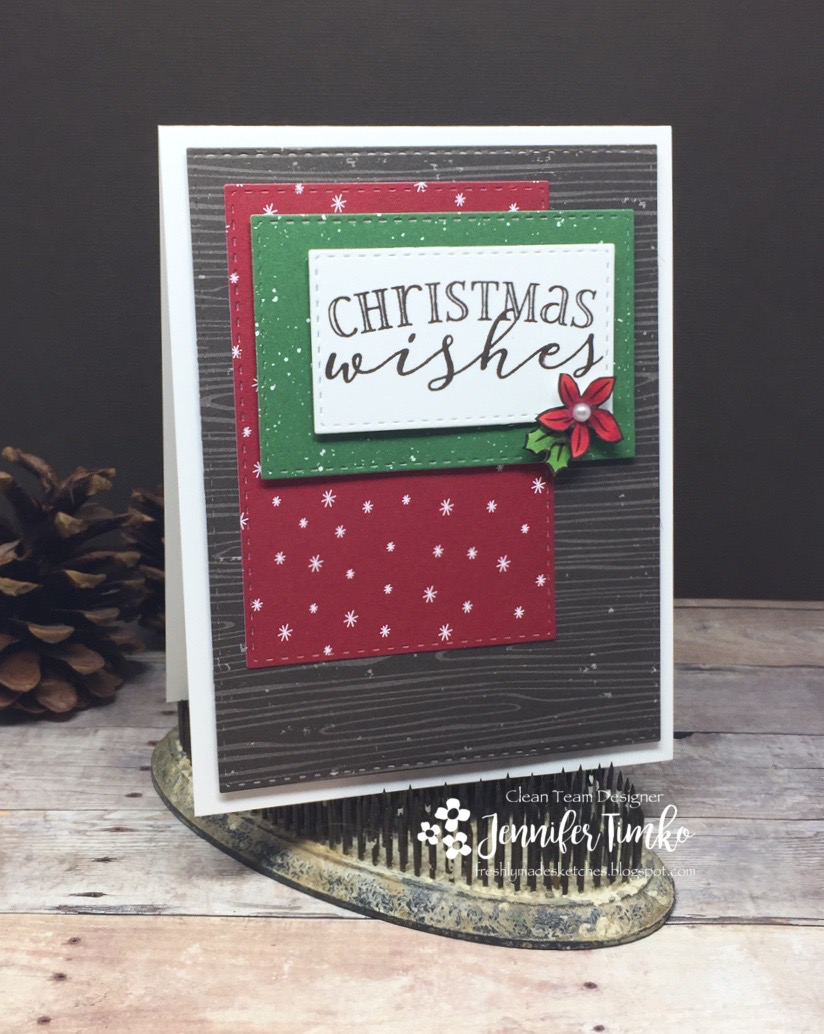 FMS310 by Jen Timko | Be Merry Stamp Set and Dies by WPlus9, Be Merry DSP by Stampin' Up, Copic Coloring