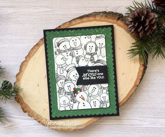 Snow-one else by Jen Timko | Frozen Fellowship Stamp Set by Newton's Nook Designs, Frames & Flags Dies by Newton's Nook Designs, Zig Clean Color Pens