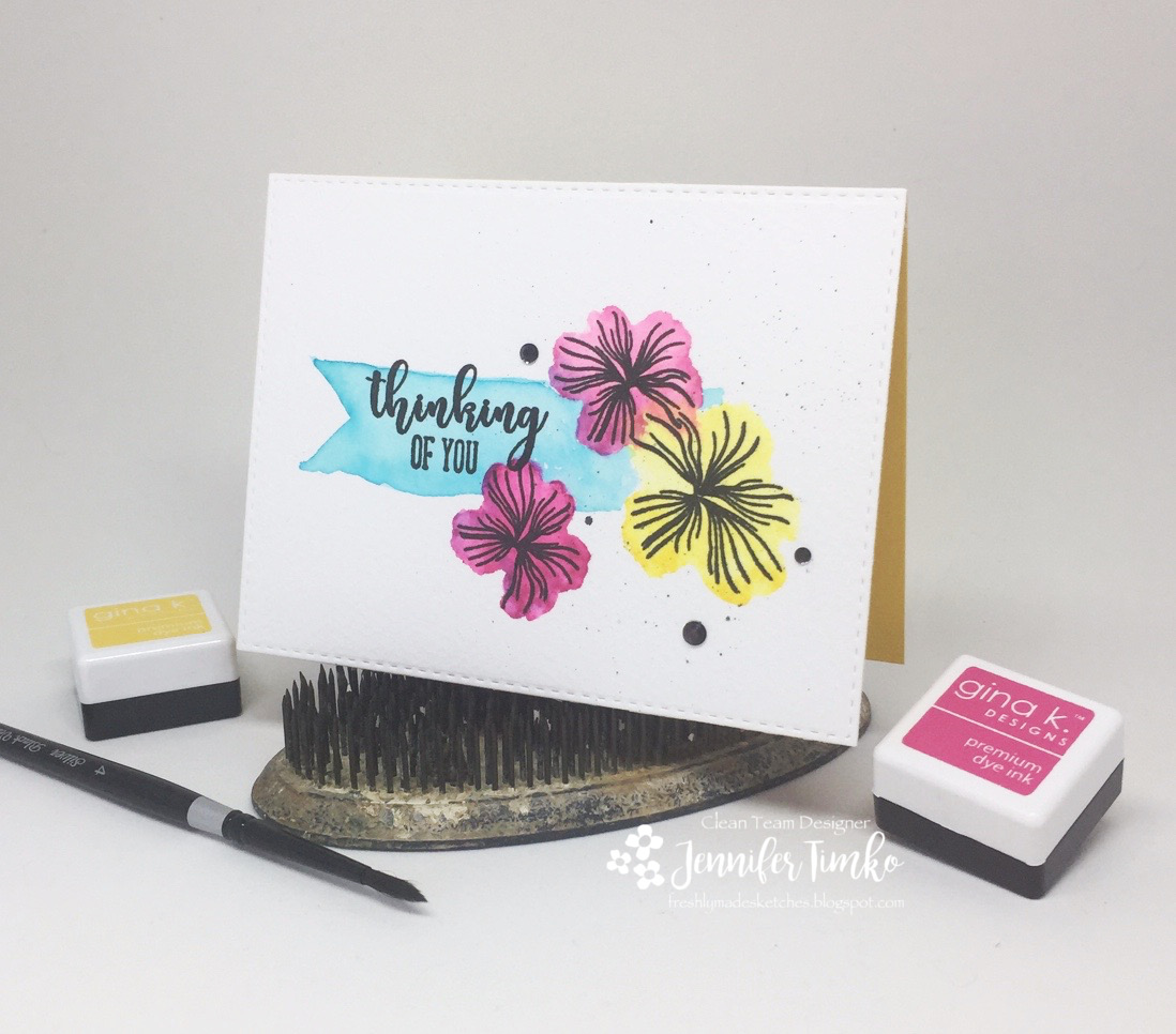 FMS321 by Jen Timko | Hearts & Flowers StampTV Kit by Gina K. Designs, Gina K. Ink