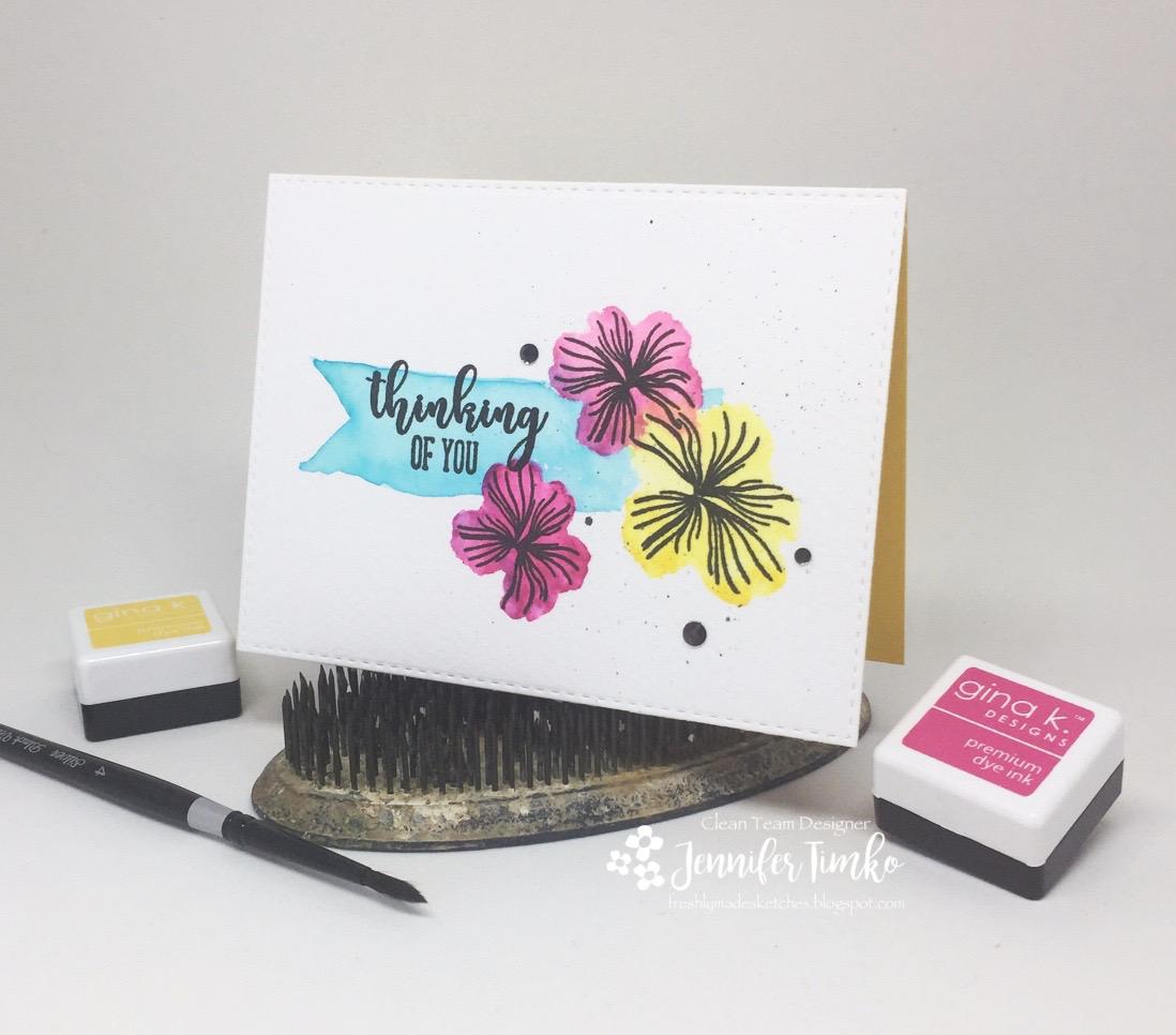 FMS321 by Jen Timko   Hearts & Flowers StampTV Kit by Gina K. Designs, Gina K. Ink