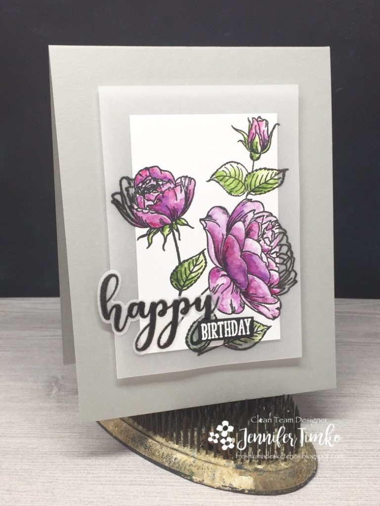 FMS322 by Jen Timko | Hearts and Flowers Stamps and Dies by Gina K Designs, Watercolors by Daniel Smith