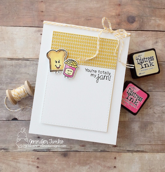 Totally My Jam by Jen Timko | Love Bites Stamp Set and Dies by Newton's Nook Designs, Tim Holtz Distress Ink Coloring