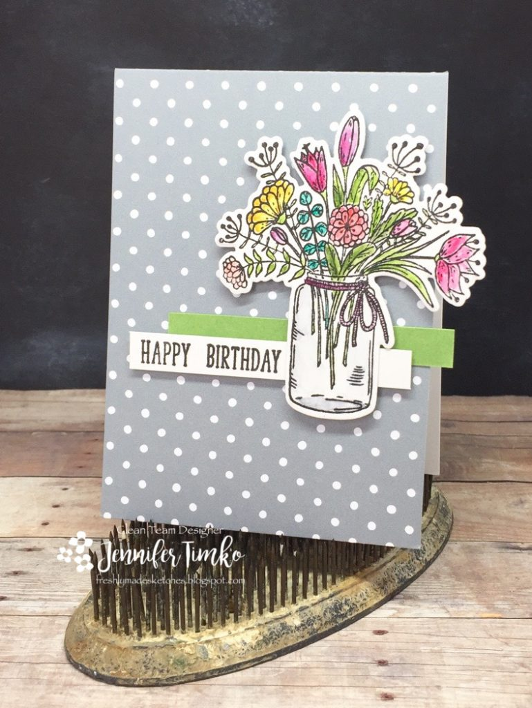 FMS324 by Jen Timko | Hearts and Flowers Stamps and Dies by Gina K Designs, Watercolor, Lawn Fawn Note Cards