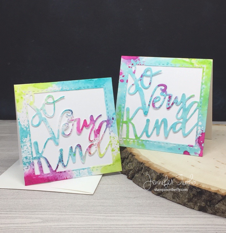 So Very Kind by Jen Timko | So Very Kind Greeting Die by Lil' Inker Designs, Tim Holtz Distress Inks