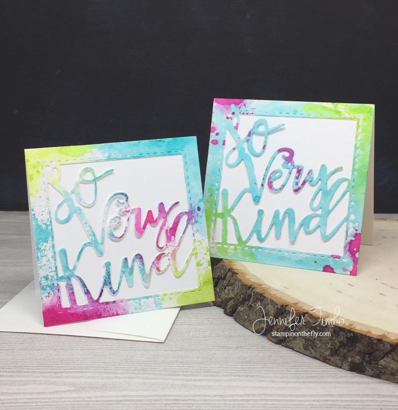 So Very Kind by Jen Timko | So Very Kind Greeting Die by Lil' Inker Designs, Tim Holtz Distress Inks