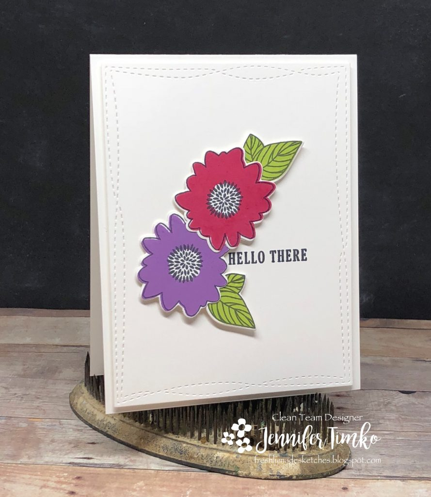 FMS333 by Jen Timko | Posie Fill-In Stamp and Dies by Concord and 9th, Wonky Stitched Rectangles Die by MFT Stamps