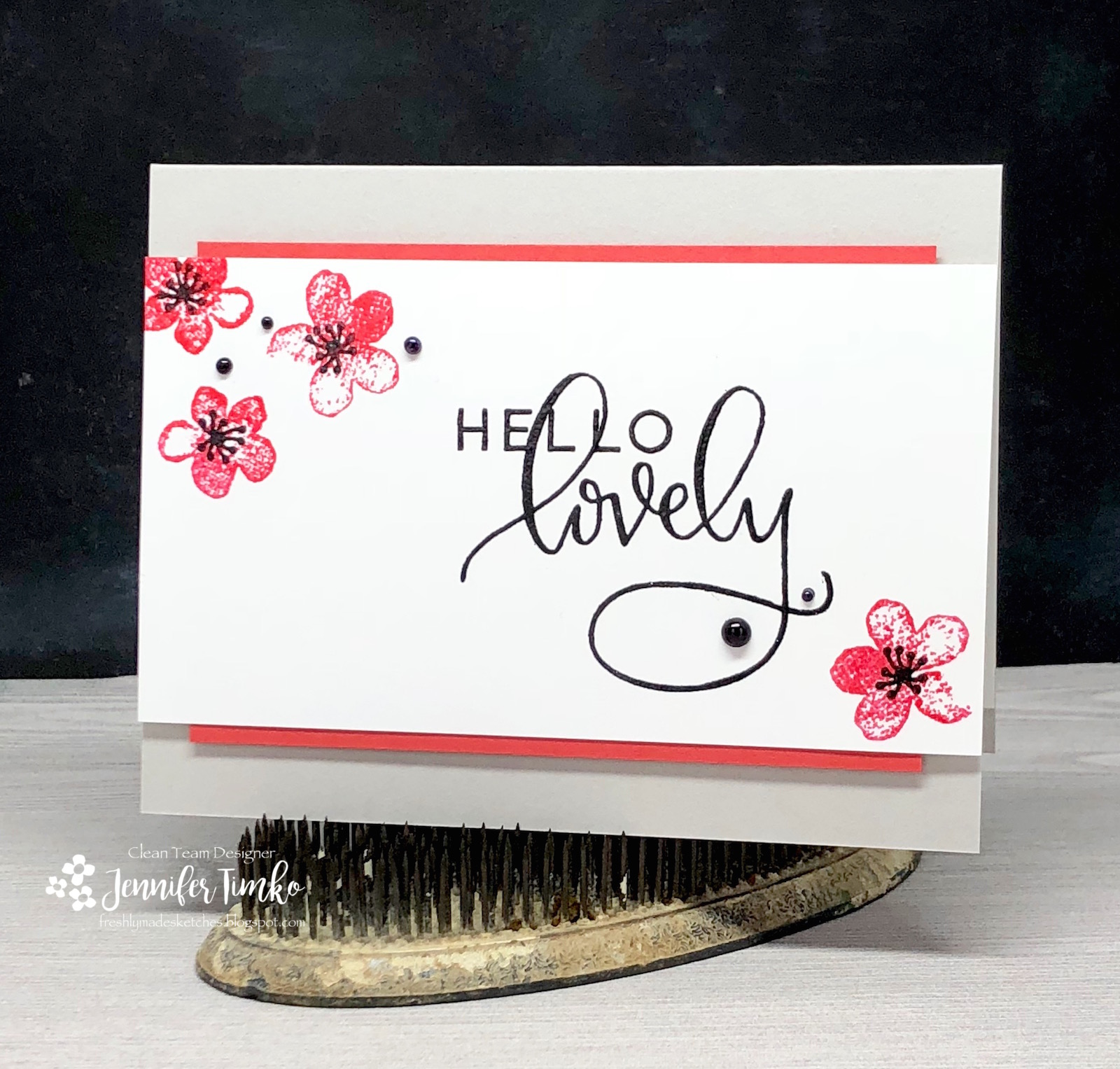 FMS334 by Jen Timko | Hello Lovely Stamp Set by Concord and 9th, Beautiful Branches Stamp Set by Concord and 9th