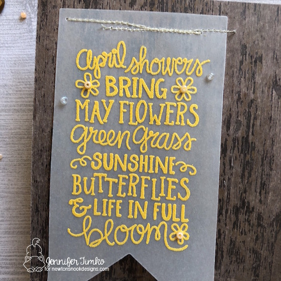 April Showers by Jen Timko | April Showers Stamp Set by Newton's Nook Designs, Wood Textures Card Stock by Stampin' Up
