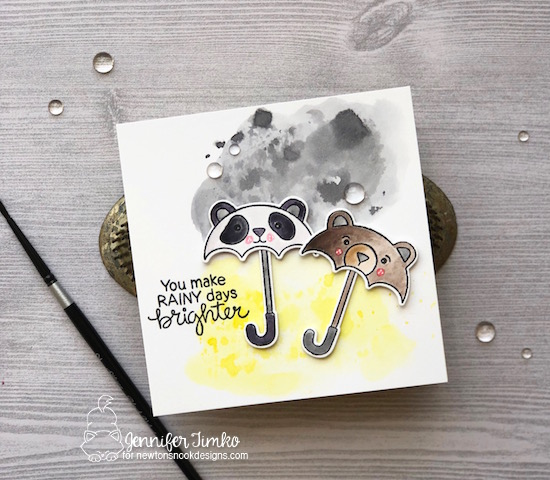Brighter Days by Jen Timko | Umbrella Pals Stamp Set and Dies by Newton's Nook Designs