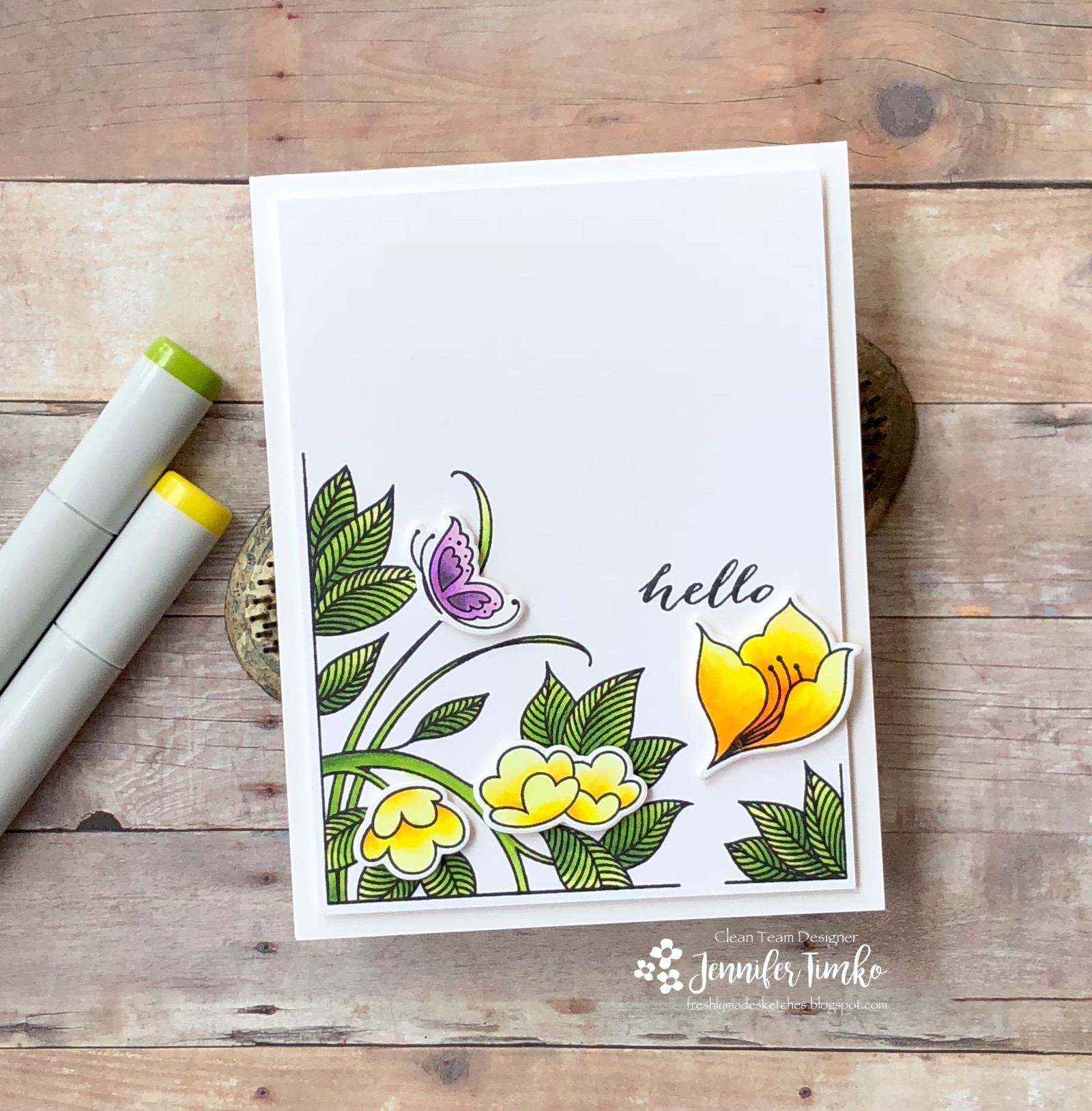 FMS339 by Jen Timko | Serene Garden Stamp Set by Stampin' Up, Copic Coloring
