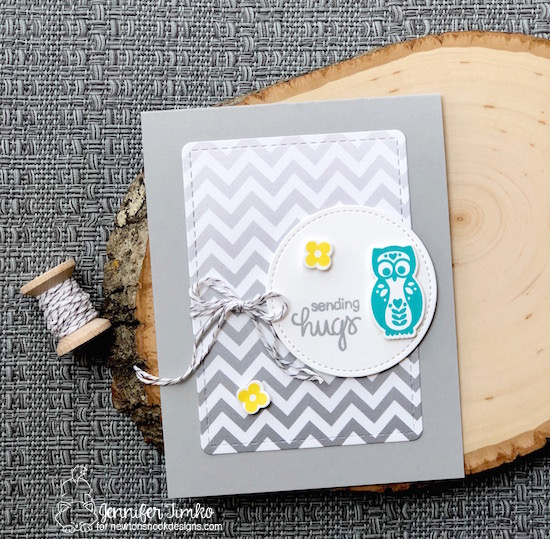 Sending Hugs by Jen Timko | Cottage Garden Stamps and Dies by Newton's Nook Designs, Sending Hugs Stamp Set by Newton's Nook Designs