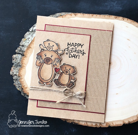 Happy Father's Day by Jen Timko | Papa Bear Stamp Set and Dies by Newton's Nook Designs, Copic Coloring