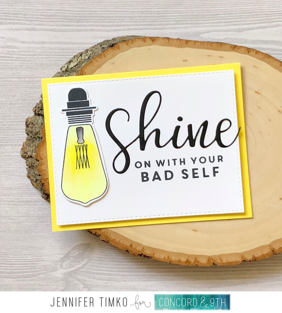 Shine On by Jen Timko | Shine On Stamp Set and Dies by Concord and 9th, Chibitronics Light Circuits