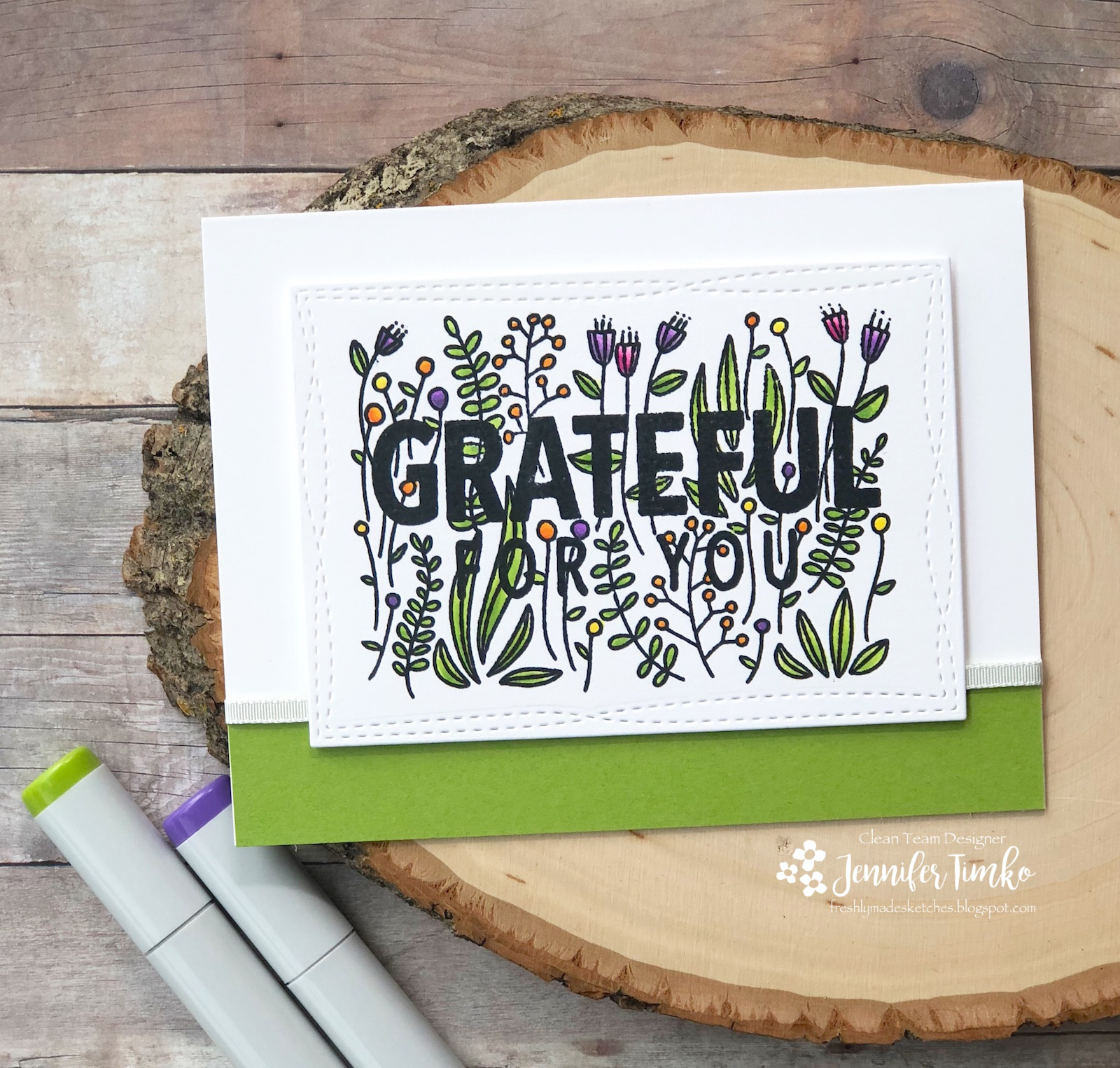 FMS343 by Jen Timko | Grateful For You Stamp Set by Concord and 9th, Copic Coloring