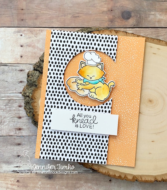 All You Knead Is Love by Jen Timko | Newton's Kitchen Stamp Set and Dies by Newton's Nook Designs, Zig Clean Color Markers