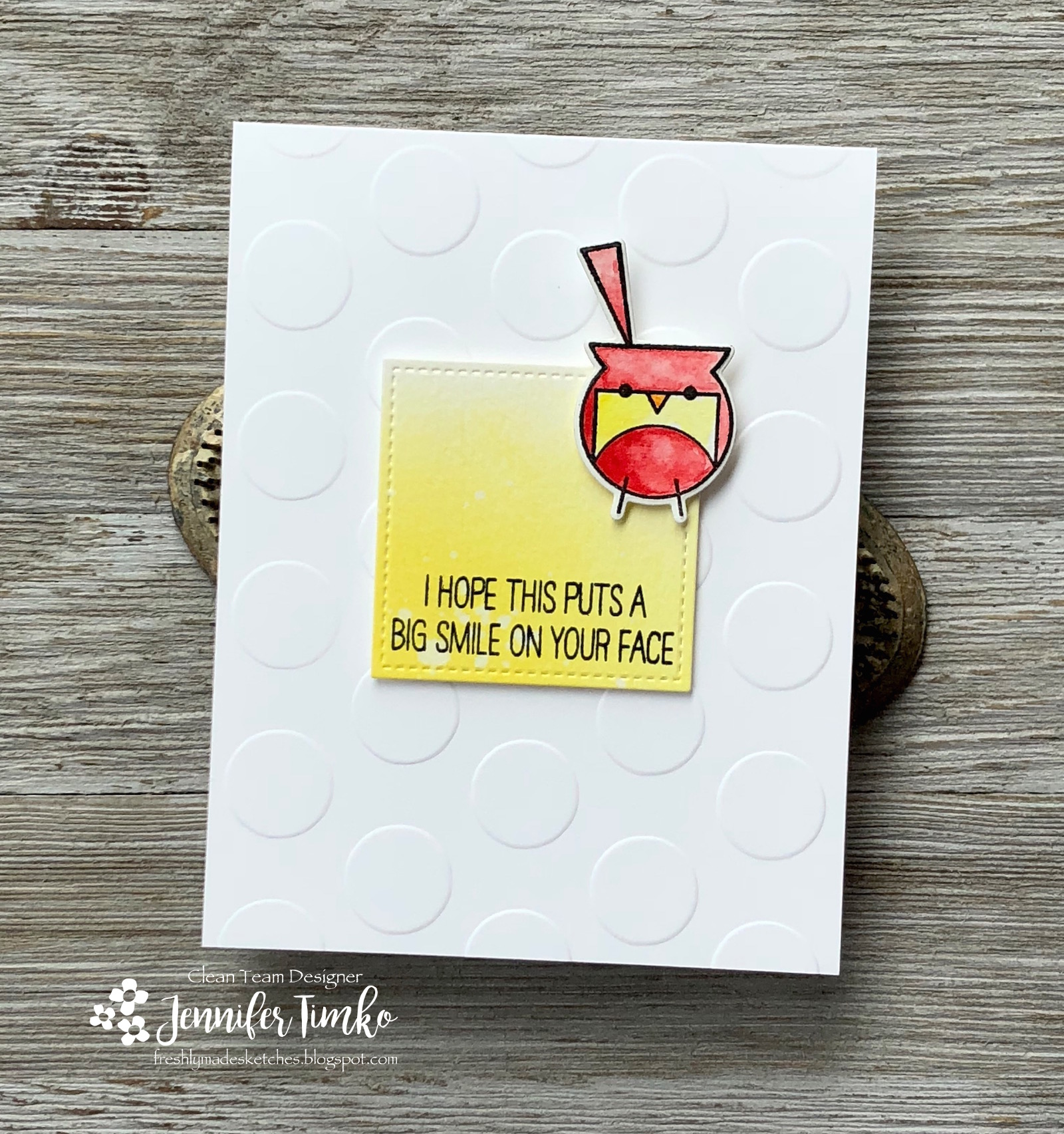 FMS347 by Jen Timko | Happy Birds Stamps and Dies by WPlus9