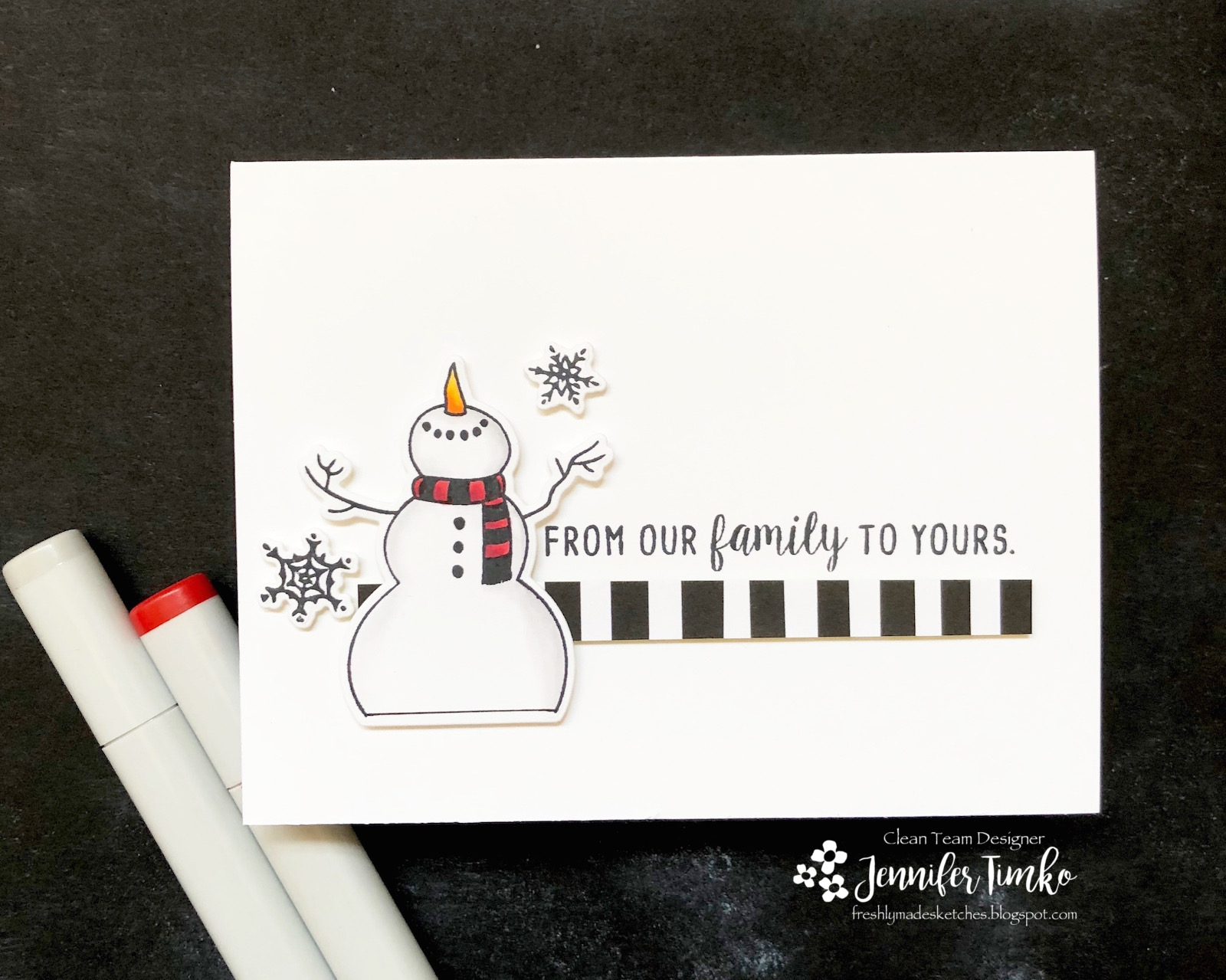 FMS351 by Jen Timko | Let It Snow Stamp Set and Dies by Honey Bee Stamps, Copic Coloring