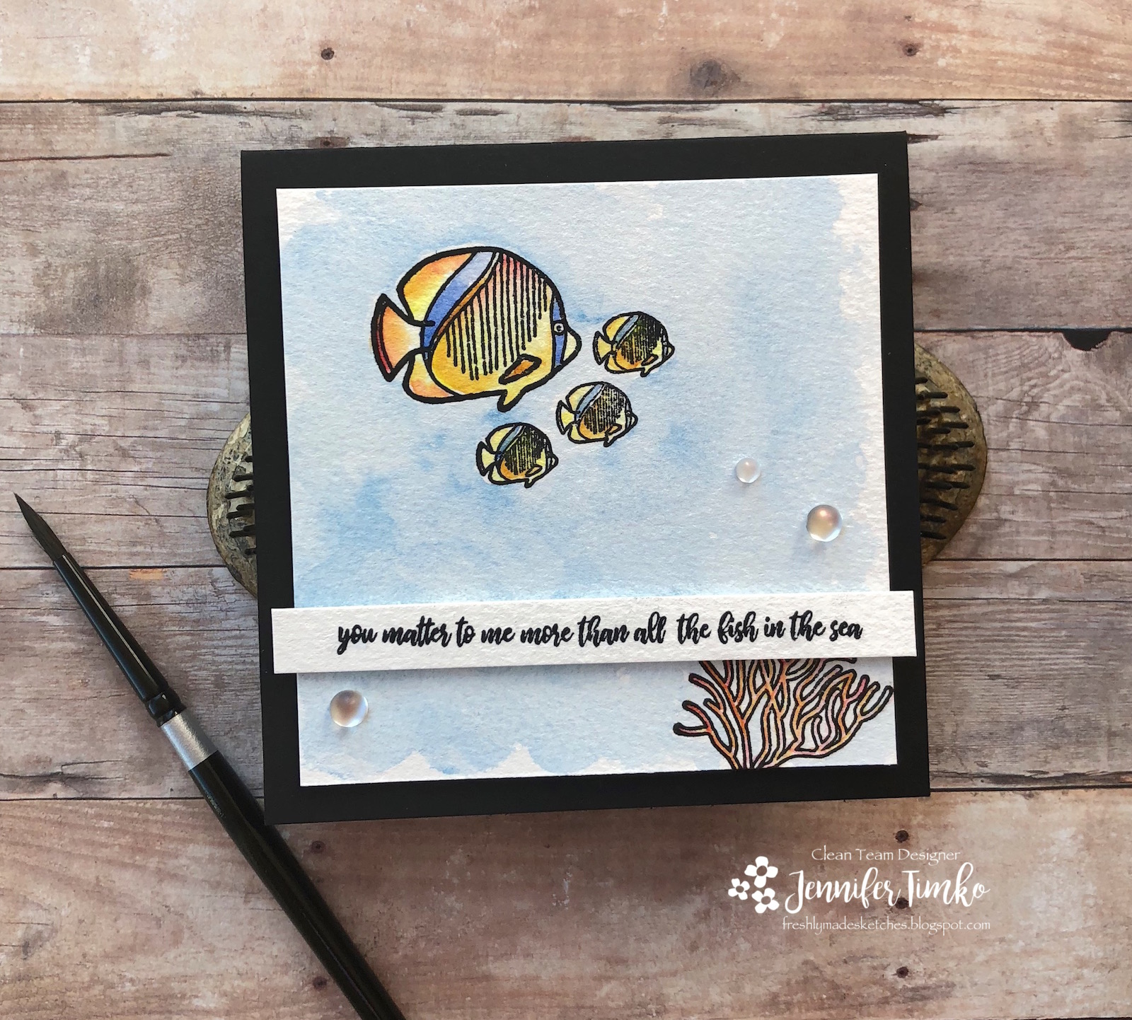 FMS353 by Jen Timko | Schools of Fish Stamp Set by Picket Fence Studios, A Dose of Vitamin Sea Stamp Set by Picket Fence Designs