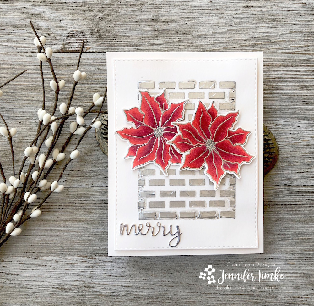 FMS366 by Jen Timko | Poinsettia Stamp Set and Dies by Simon Says Stamp, Snow Globe Shaker Dies by Newton's Nook Designs