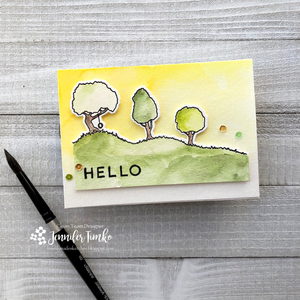 FMS378 by Jen Timko | City Stacks Stamp Set and Dies by Concord and 9th, Hello Lovely Stamp Set by Concord and 9th, Daniel Smith Watercolors