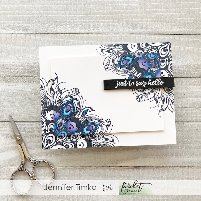FMS382 by Jen Timko | Let's Shake Our Tail Feathers Stamp by Picket Fence Studios